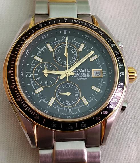 Relógio Casio Edifice Ef503 Dourado Raro - Perfeito Estado