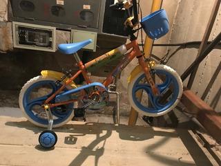 Bicicleta Infantil Unibike Color Naranja R16 + Rueditas