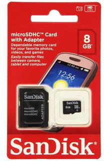 Kit 10 Cartões De Memória Sandisk 8gb Original Micro Sd