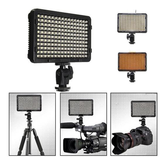 Portátil 176 Led Vídeo Fotografia Digital Iluminação Flash P