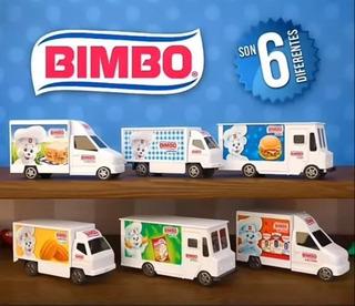 6 Piezas Carritos Bimbo 2019 Colección Completa +regalo