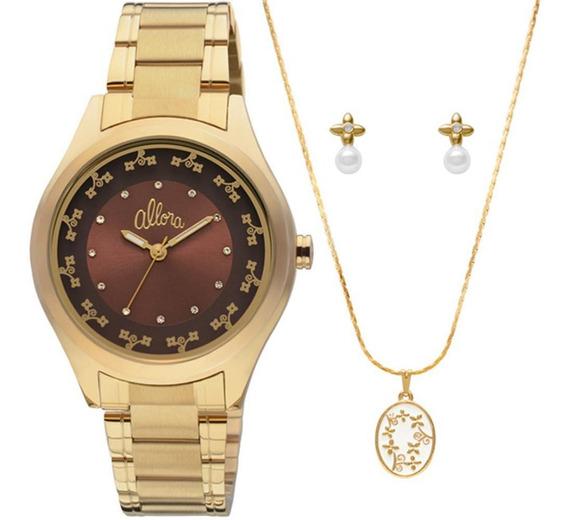 Relógio Allora Feminino Dourado - Al2035gb/4m