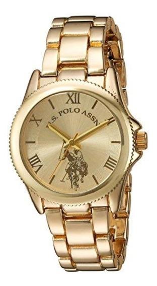Reloj U.s. Polo Assn. Para Mujer 30mm, Pulsera De Acero Inox