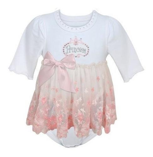 Imagen 1 de 3 de Falda  Baby Angels En Encaje Pink Princess Todo En Uno