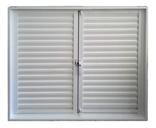 Postigon De Aluminio Blanco 150 X 110 2 Hojas