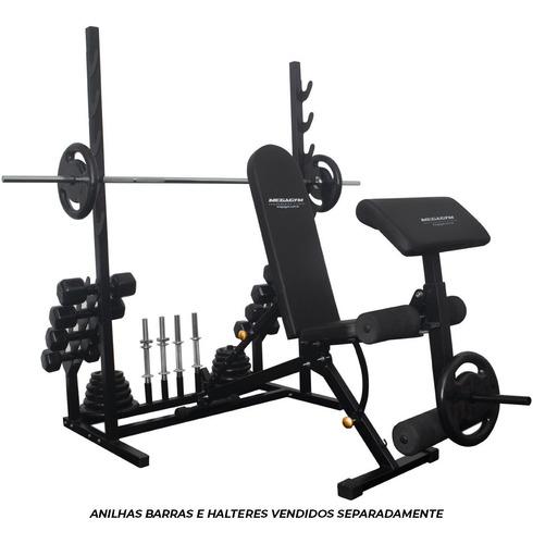Imagem 1 de 7 de Banco Rack Pro 10x1 Estação Treino P/ Musculação E Academia
