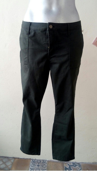 Pantalon Mujer Skinny Strech Talla 20 Mex 40/42 Verde Oscuro