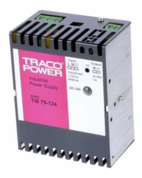 Fonte Chaveada Ajustável 24vdc 3a Traco Power Tis75-124 Nova