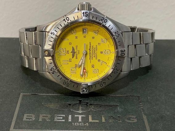 Breitling Superocean 41mm , Amarelo , Todo Aço , Automático!