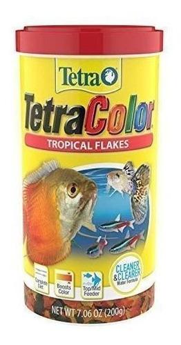 Tetra Color Tropical Flakes  200gr Para Peces Tropicales