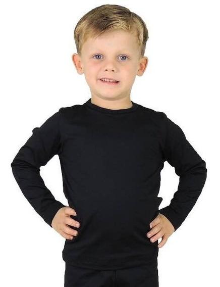 Blusa Térmica Infantil Microfibra Flanelada Varias Cores