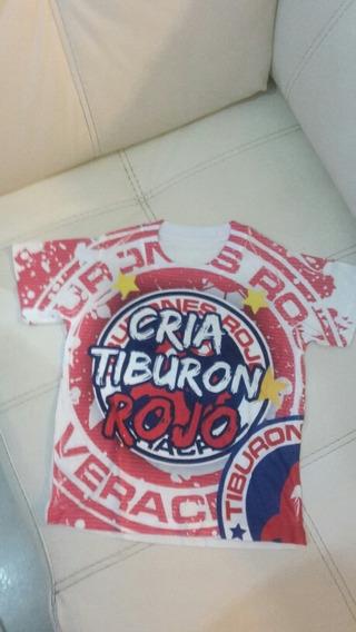 Playera Tiburon Rojo Cria De Tiburon