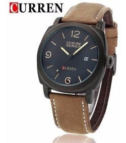 Relógio Curren Casual Marrom Masculino Original Modelo 8158