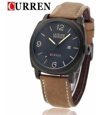 Relógio Curren Casual Marrom Masculino Original Modelo 8158 - Linda Correia E Designer