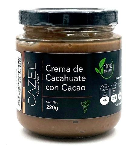 Imagen 1 de 5 de Crema De Cacahuate Con Cacao Oaxaca 100% Natural 220g