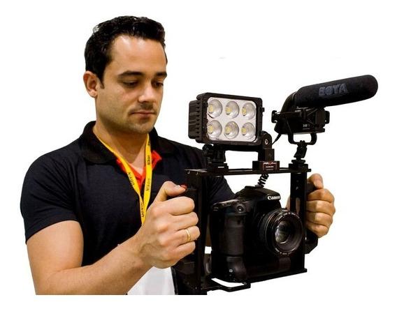 Estabilizador Cage Gaiola Dslr Canon Sony Nikon