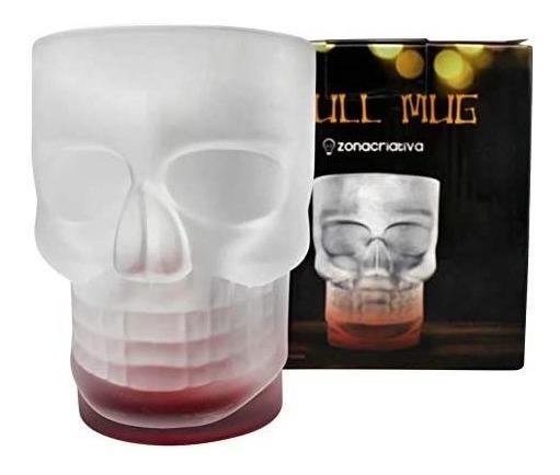 Caneca Fosco Caveira Skull Mug C/ Base Vermelha 500ml