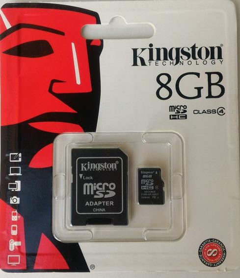 Cartão De Memória Kingston 8gb Original + Adaptador Sd
