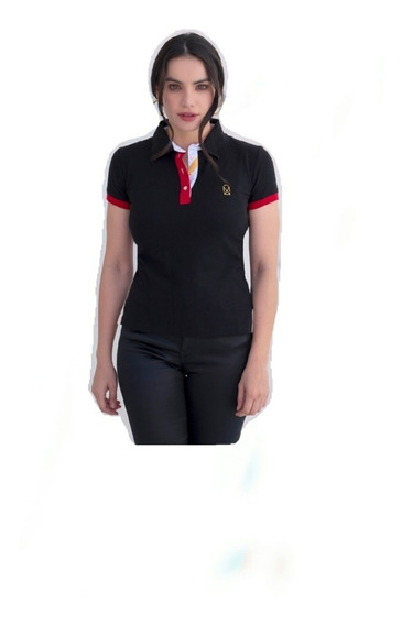 Polo Muletta Dama Basica Negra