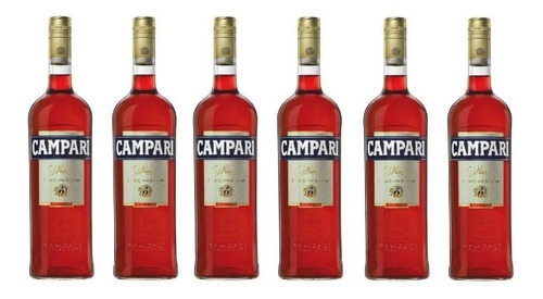 Caja X 6 Campari Bitter 750cc - Caballito / Primera Junta