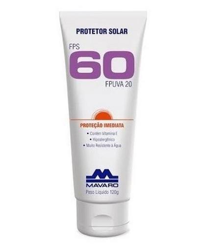 Imagem 1 de 1 de Protetor Solar Fps 60 Mavaro 120g