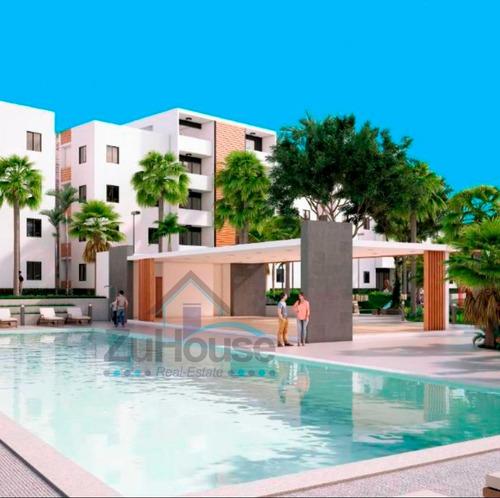 Imagen 1 de 6 de Apartamento En Res Cerrado Con Piscina En Santiago Wpa107 A1