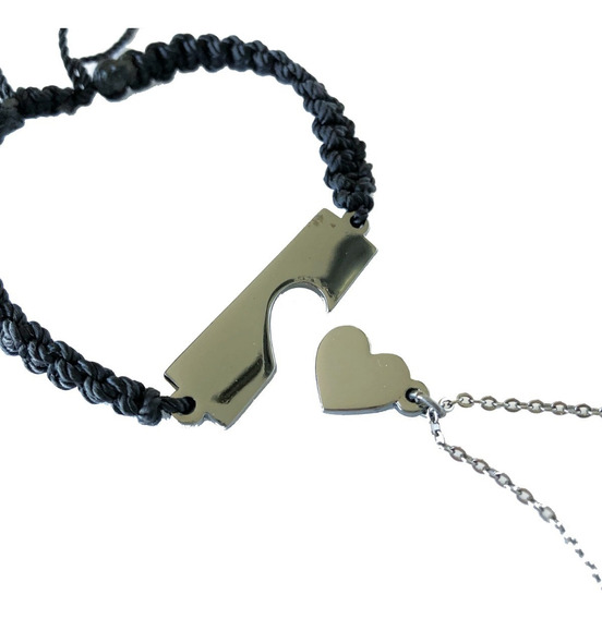 Pulsera Y Collar Para Parejas Corazón Regalo Novios