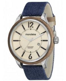 Relógio Masculino Mondaine Pulseira De Couro 89010g0mvnd1