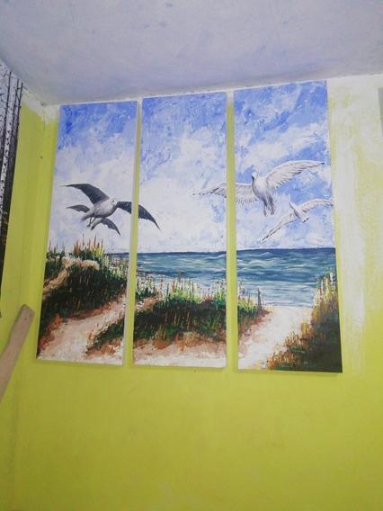 Pintura En Óleo Y Acrílico