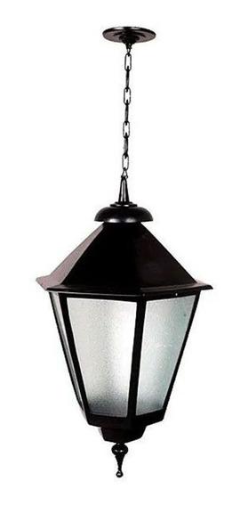 Luminária Teto Italiana Grande Base E Corrente Alumínio 82cm