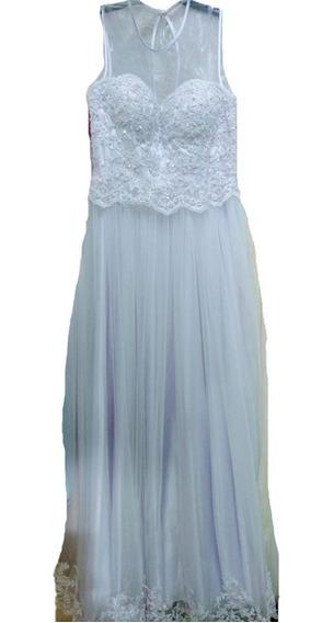 Vestido 15 Largo Guipiur Lila S Sabah Desing