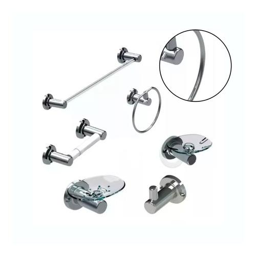 Imagen 1 de 6 de Kit Accesorios Baño 6 Piezas Clásicas