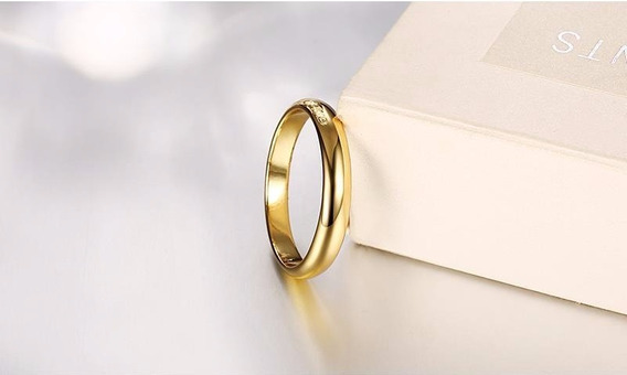 Par D Aliança De Compromisso D Noivado Casamento Cor De Ouro