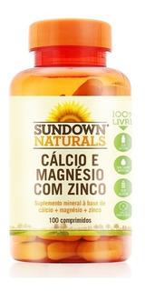 Cálcio E Magnésio C/ Zinco Sundown 100 Comprimidos Importado