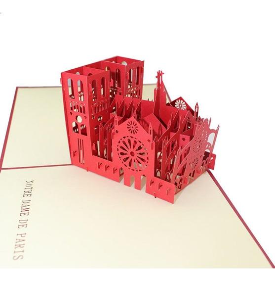 Cartão 3d Cartão Postal Notre Dame De Paris Cartões Estereos