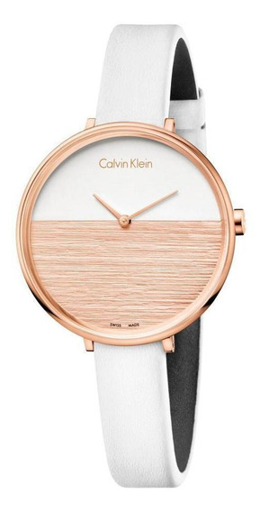 Relógio Feminino Calvin Klein Rise Rosegold/branco K7a236lh