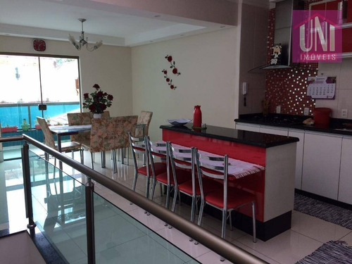 Sobrado Com 3 Dormitórios À Venda, 258 M² Por R$ 900.000 - Parque Erasmo Assunção - Santo André/sp - So0541