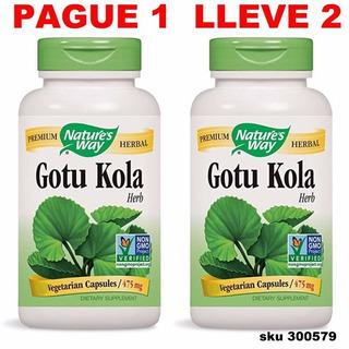 Paga1 Lleva2 Gotu Kola Centella Asiatica 200 Capsulas W01