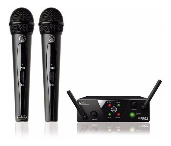 Akg Microfone S/fio Wms40 2 Vocal Duplo