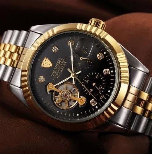 Relógio Masculino Automático Tevise Presente Dia Dos Pais