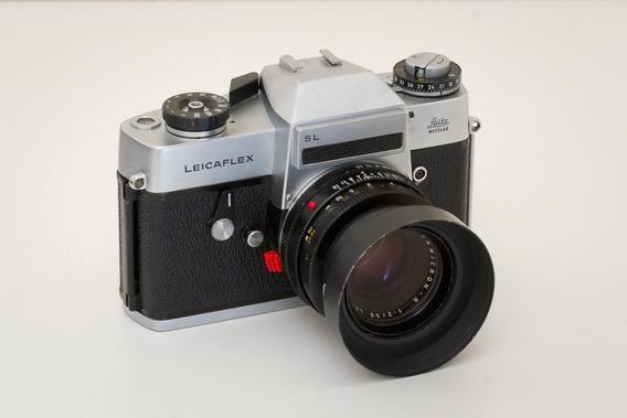 Camera Leicaflex Sl + Summicron 50mm F2 R Em Ótimo Estado