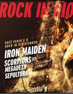 2 Ingressos Rock In Rio 2019 Iron Maiden - Inteira - 04/10