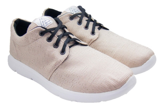 Zapatillas Marca Rcn Ultralivianas Color Beige