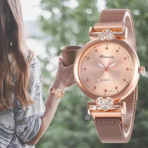 Relógio Feminino Pulseira Magnética