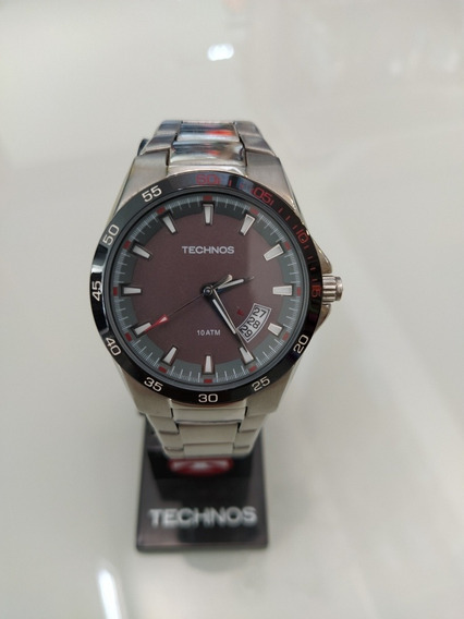 Relógio Techenos , Em Aço+ Nf + Garantia