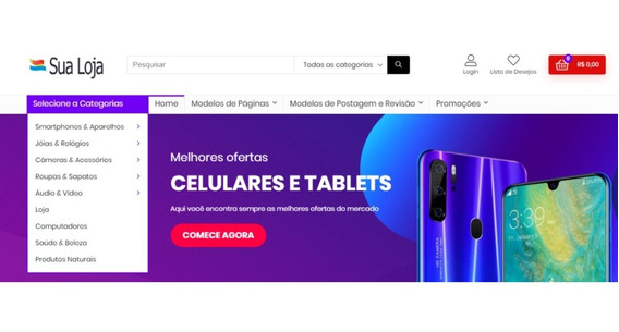Loja Virtual Woocommerce Customizada