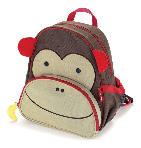 Skip Hop Zoo Monkey - Mochila + Prato + Smart Plate\bowl