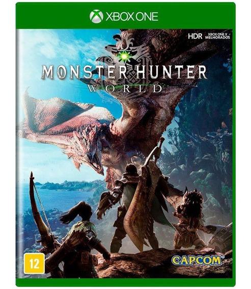 Monster Hunter World Xbox One Midia Fisica Cd Novo Nacional
