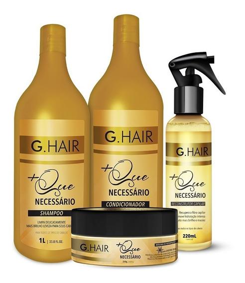 Kit G Hair Completo + Que Necessário 04 Produtos