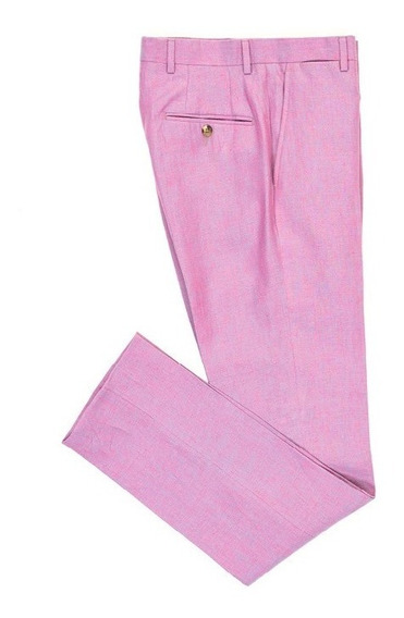 Pantalón Para Caballero Bruno Corza Trend Slim Fit 100% Lino